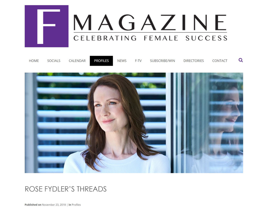 F-Magazine profile Rose Fydler