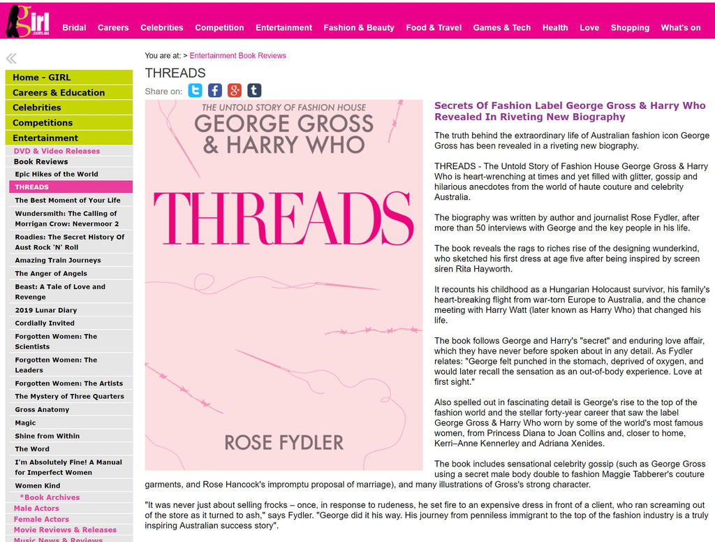 Girl.com.au interviews Rose Fydler about Threads