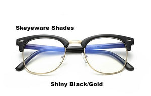 Fashionable Computer Glasses (Anti-Blue Ray) - Black Gold - Unisex