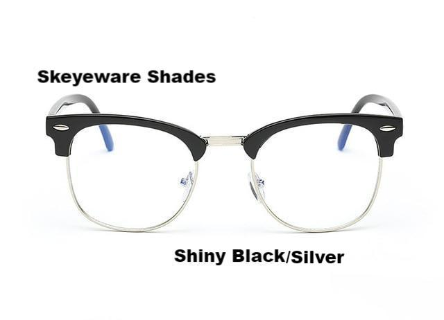 Fashionable Computer Glasses (Anti-Blue Ray) - Black Silver - Unisex