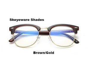 Fashionable Computer Glasses (Anti-Blue Ray) - Brown Gold - Unisex