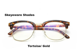 Fashionable Computer Glasses (Anti-Blue Ray) - Tortoise Gold - Unisex