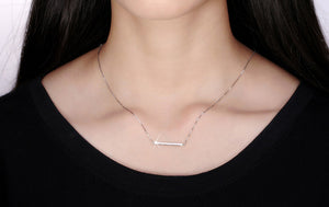 Sterling Bar Necklace - Jewelry