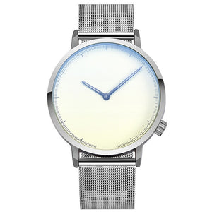Simplistic Steel Band Watch - Silver W/ White Face / United States - Jewelry