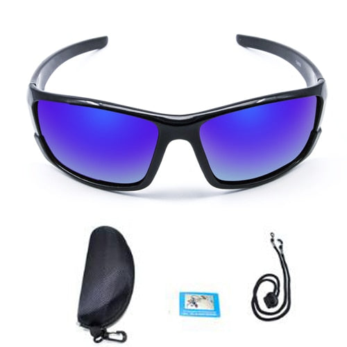 Polarized Fishing Sunglasses - Blue W/ Box - Men
