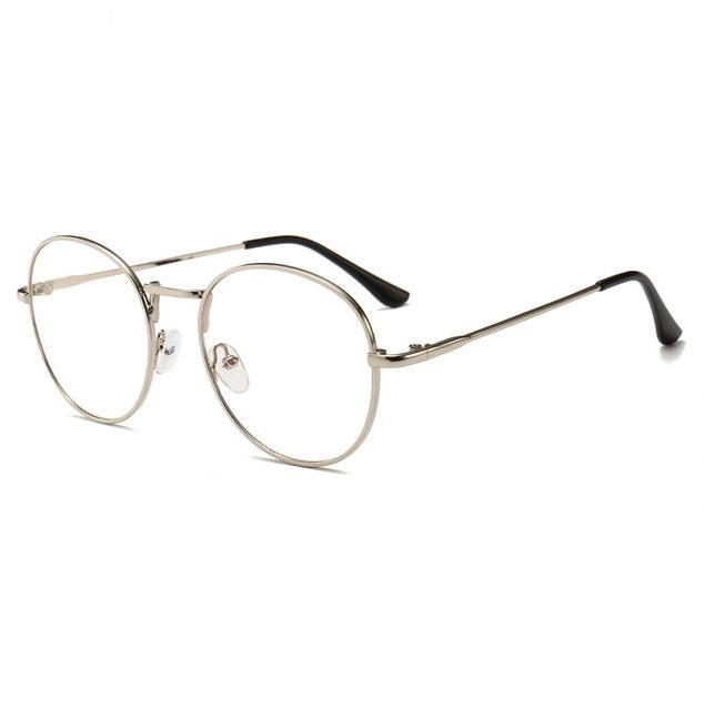 Retro Computer Glasses (Reduces Electronic Eye Strain) - Silver - Unisex