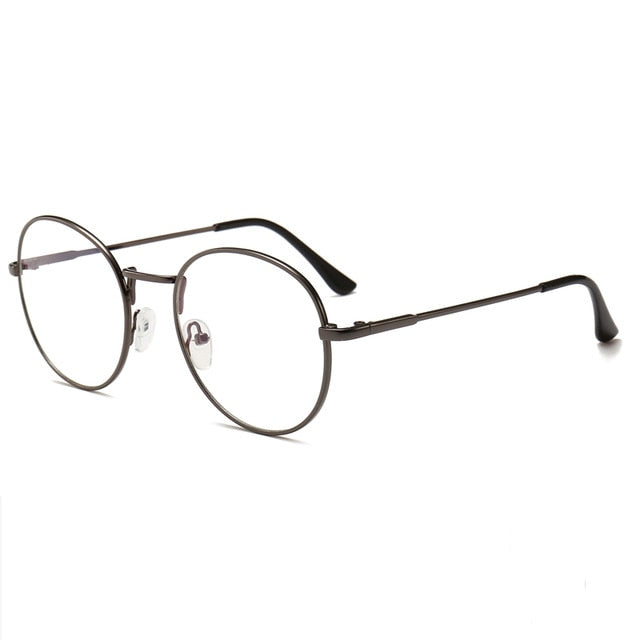 Retro Computer Glasses (Reduces Electronic Eye Strain) - Gun Metal Gray - Unisex