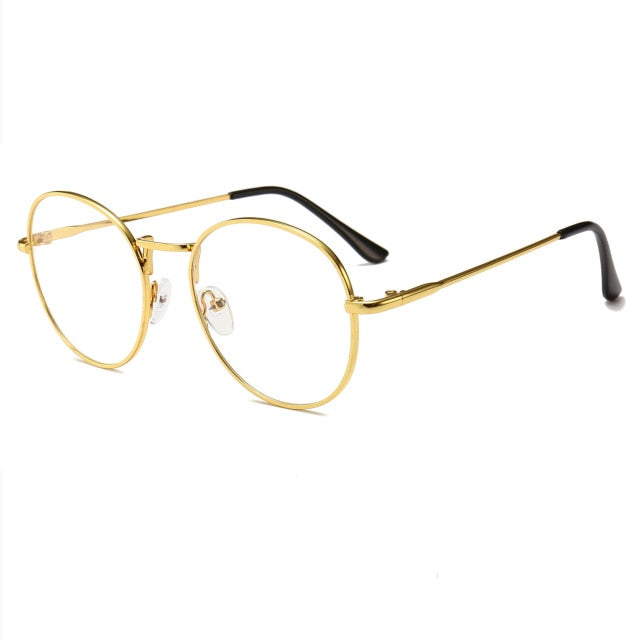 Retro Computer Glasses (Reduces Electronic Eye Strain) - Gold - Unisex