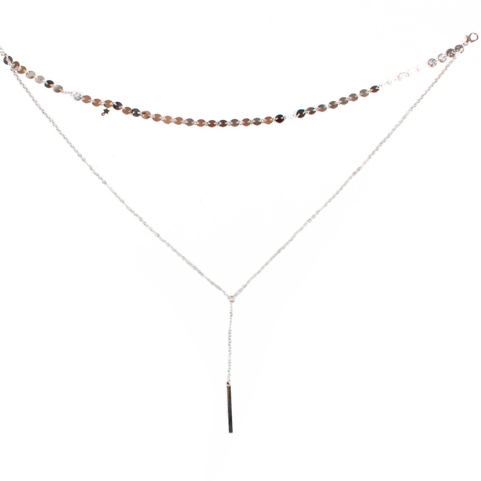 Simple Vertical Bar Necklace - Jewelry