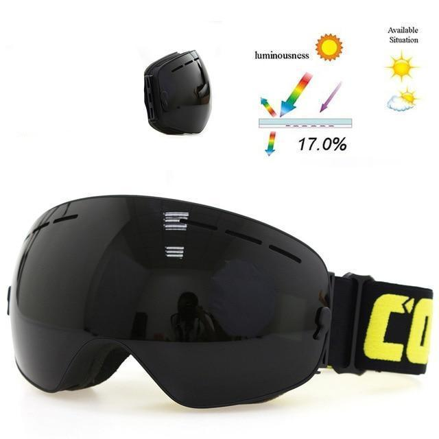 Thin Rim Ski/snowboard Goggles - All Black - Goggles