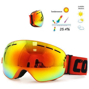 Skeyeware Shades Goggles Frame Orange / China Thin Rim Ski/Snowboard Goggles