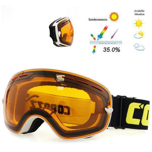 Skeyeware Shades Goggles Orange and White Fra / China Thin Rim Ski/Snowboard Goggles