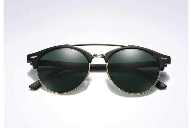 Skeyeware Shades Men black green / no box Club Style Polarized Sunglasses