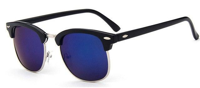 Skeyeware Shades Men blue Half-Frame Sunglasses (Club Style)