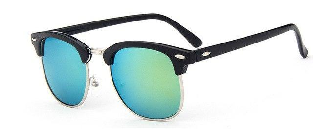 Skeyeware Shades Men gold Half-Frame Sunglasses (Club Style)