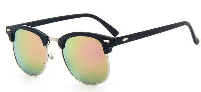 Skeyeware Shades Men pink Half-Frame Sunglasses (Club Style)