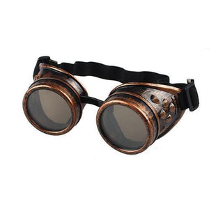 Vintage Gothic Goggles - Red - Men