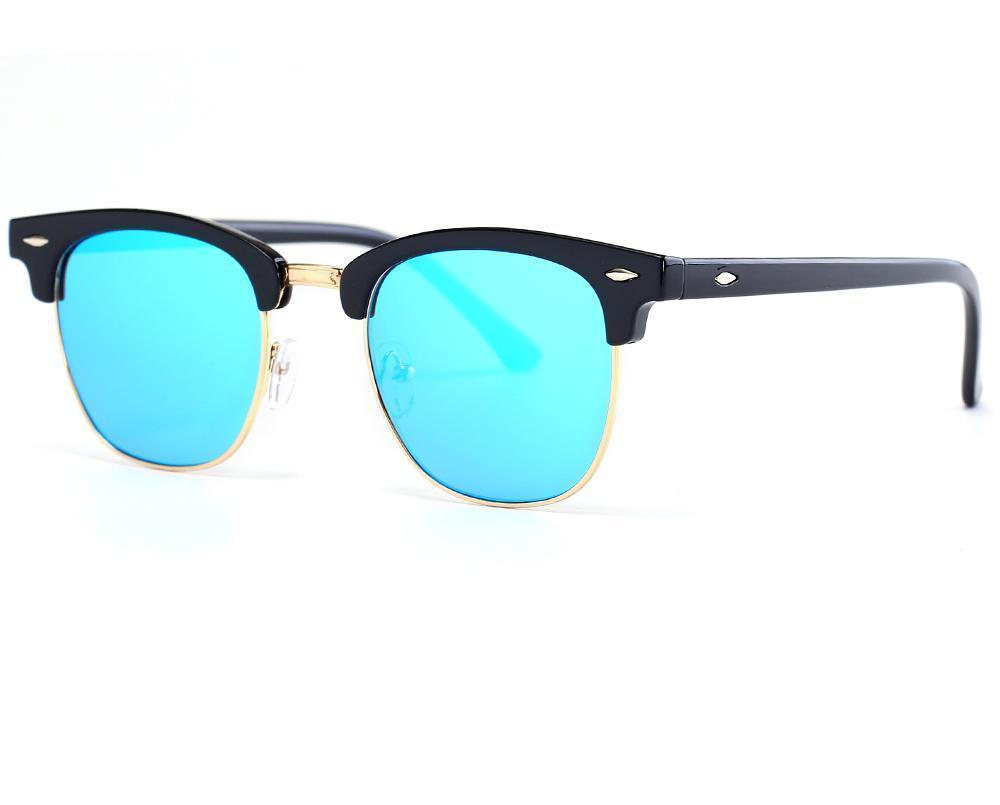 Skeyeware Shades Men Semi-Rimless Designer Style Sunglasses