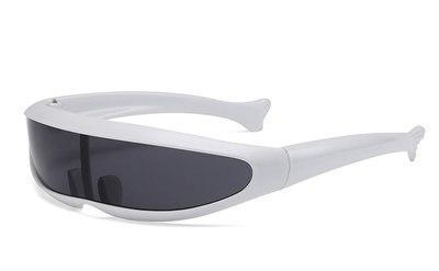 Skeyeware Shades Men White F Black Cyclops Fast Sunglasses