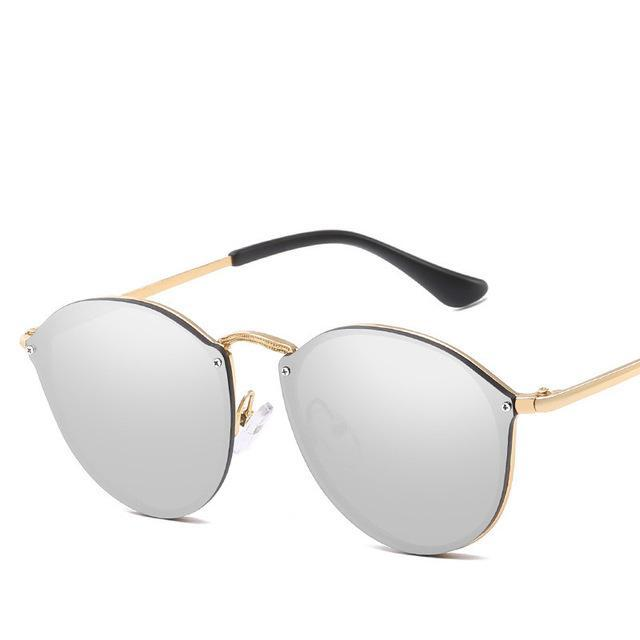 Luxury Round Sunglasses - Silver - New Arrivals