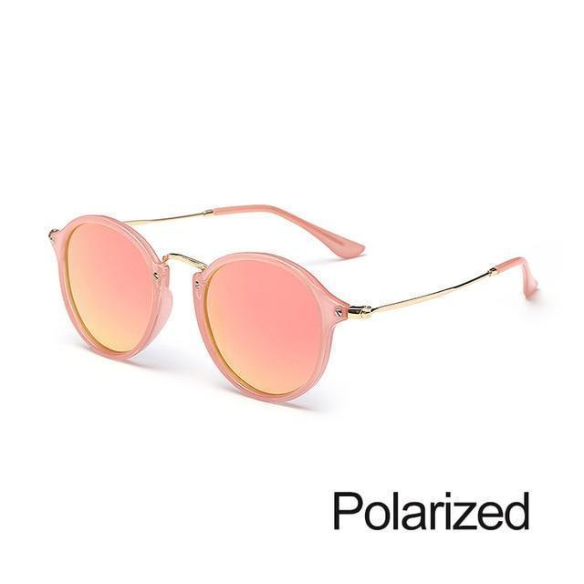 New Arrival Vintage Mirrored Round Sunglasses - Barbie Pink - Unisex