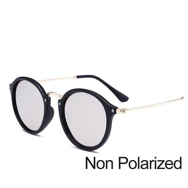 2f3c3f426ef ... New Arrival Vintage Mirrored Round Sunglasses - Black And Silver (Not  Polarized) - Unisex ...