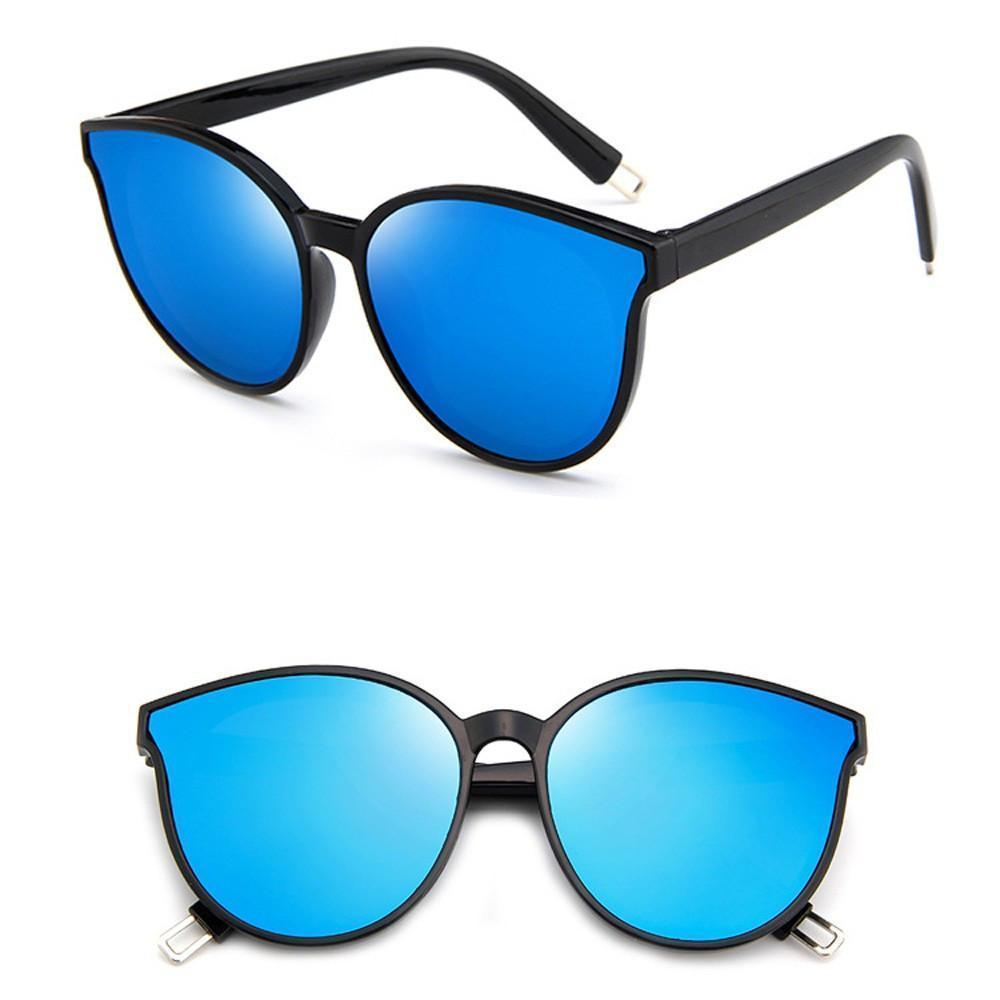 Vintage Sunglasses - Blue Chrome - Unisex