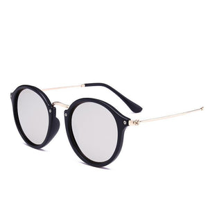 New Arrival Vintage Mirrored Round Sunglasses - Unisex