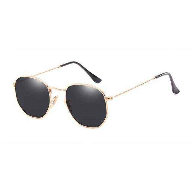 Polygon Sunglasses - Black & Gold - Men
