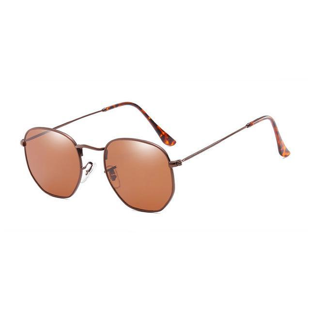 Polygon Sunglasses - Brown - Men