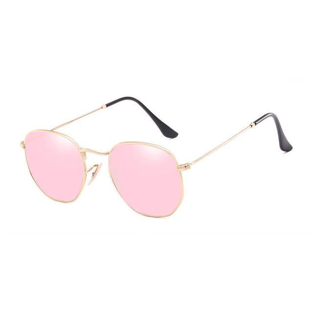 Polygon Sunglasses - Pink - Men