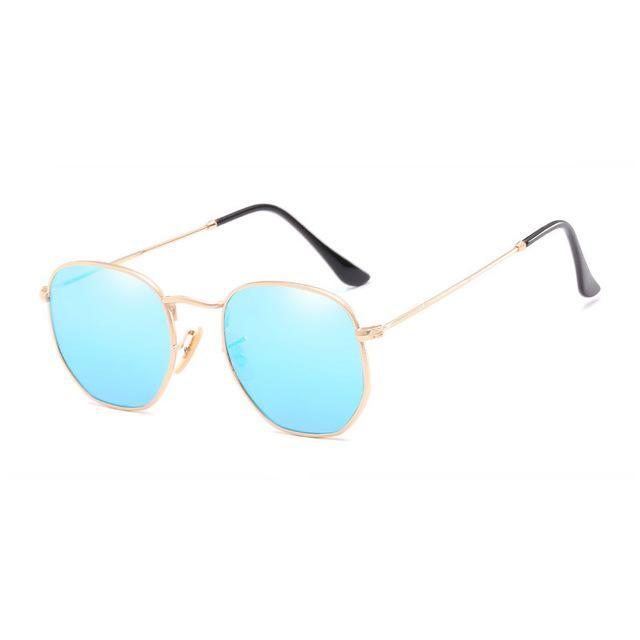 Polygon Sunglasses - Blue - Men
