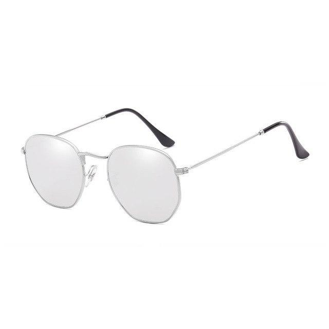Polygon Sunglasses - Silver - Men