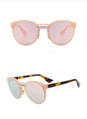 Butterfly Womens Sunglasses - Pink Mirror - Women