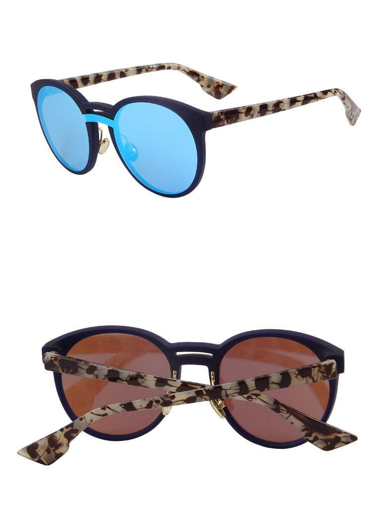 Butterfly Womens Sunglasses - Blue - Women