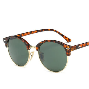 Rosie Rivets Sunglasses - Leopard And Green - Women