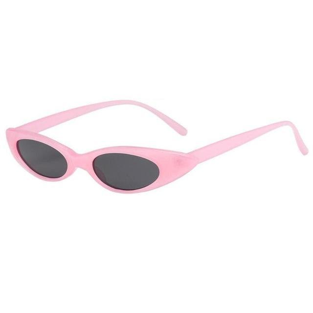 Oval Frame Cat Eye Sunglasses - Pink Frame - Women