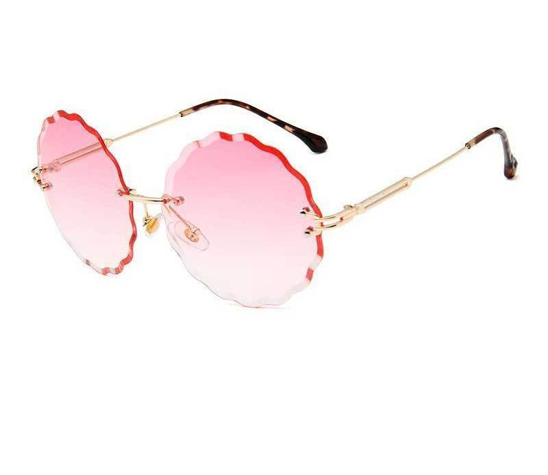 Rimless Round Sunglasses - Women