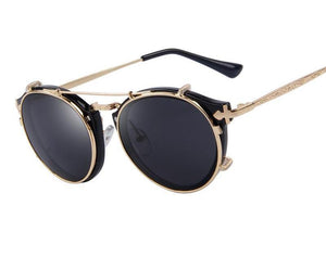 Steampunk Round Sunglasses - Women