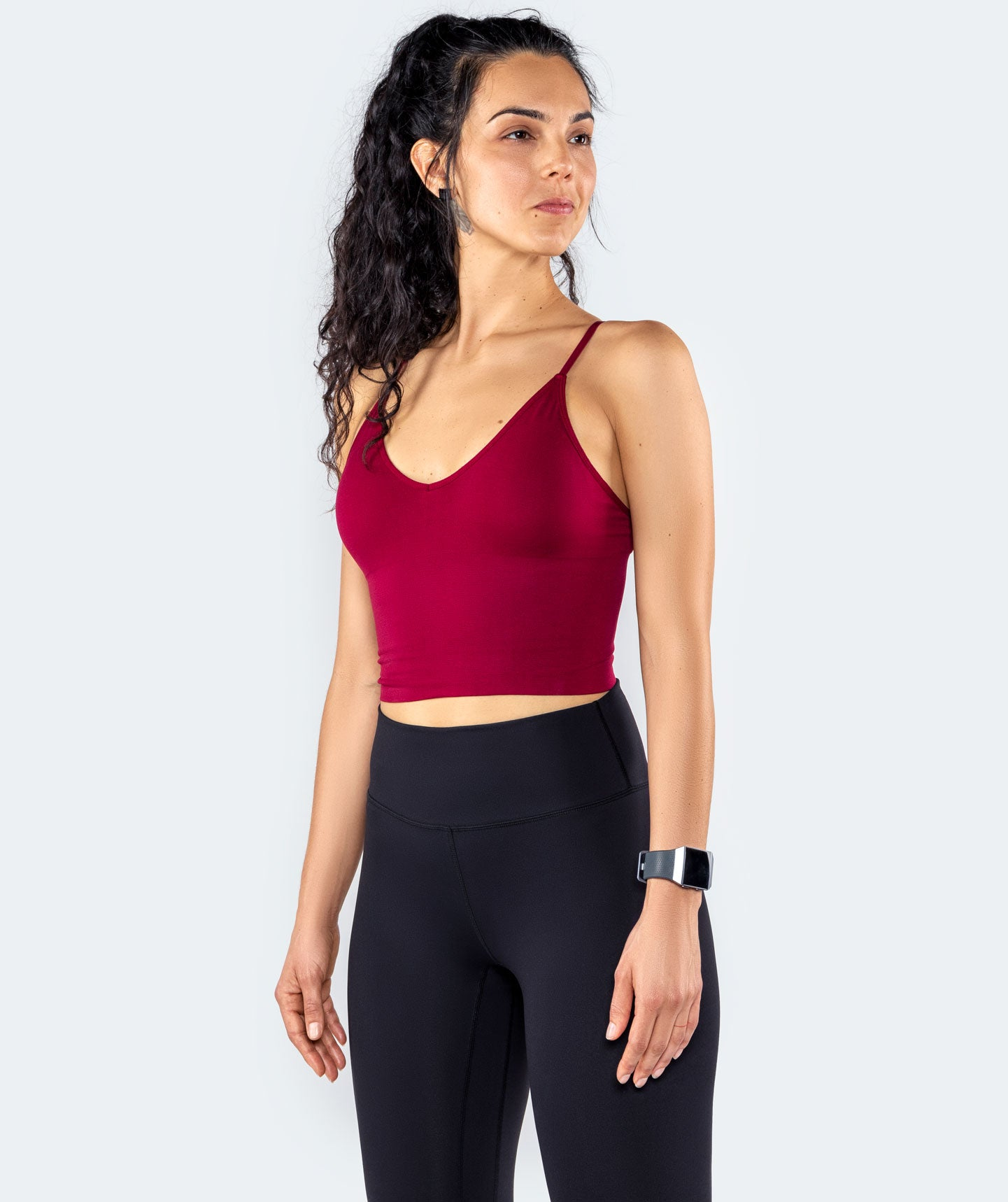 Serene Seamless X Crop Top - Burgundy