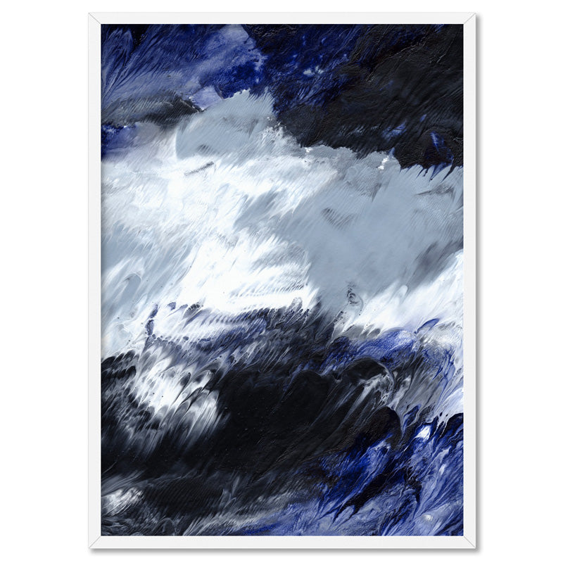Abstract Fluid Falls - Art Print, Stretched Canvas, or Framed Canvas Wall Art