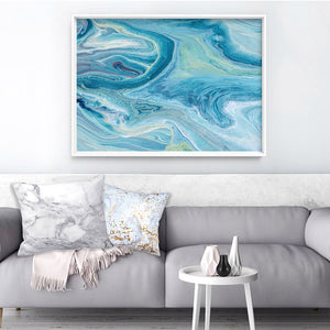 Abstract Ocean Park - Art Print, Stretched Canvas or Framed Canvas Wall Art, Shown inside a frame