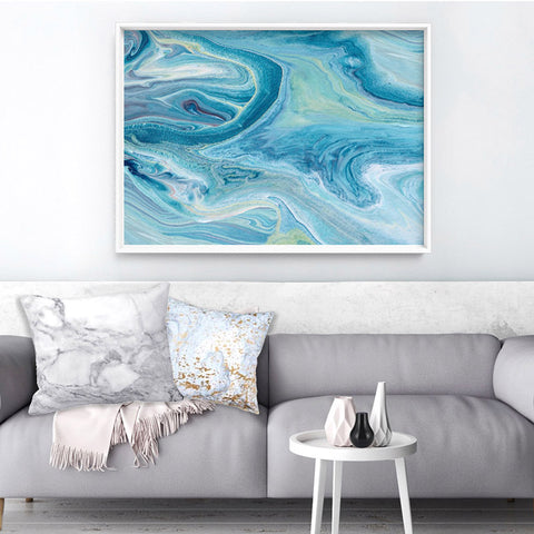 Abstract Ocean Park - Art Print, Stretched Canvas, or Framed Canvas Wall Art