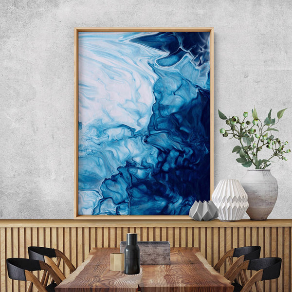 Abstract Fluid Ocean Breathing II - Art Print, Stretched Canvas, or Framed Canvas Wall Art