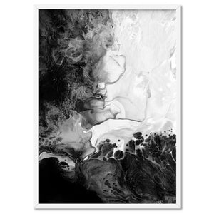 Abstract Fluid Monochrome V2 - Art Print