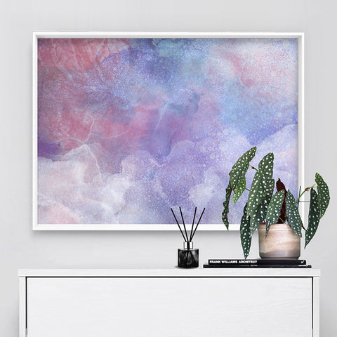 Distressed Pastel Ink Abstract - Art Print, Stretched Canvas, or Framed Canvas Wall Art
