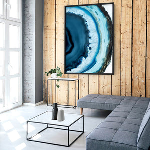 Load image into Gallery viewer, Agate Slice Geode Turquoise III - Art Print