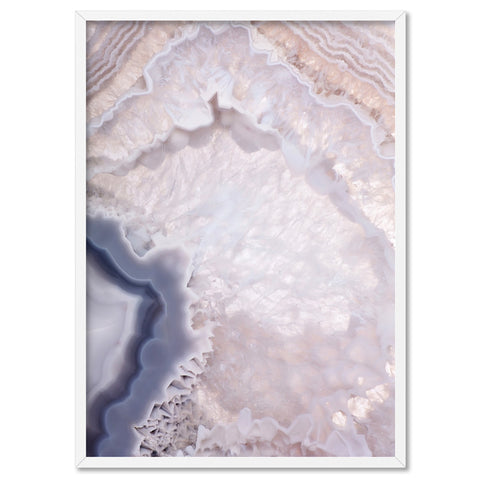 Agate Gem in Blush II - Art Print
