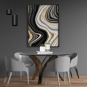 Agate Slice Luxury II - Art Print, Stretched Canvas or Framed Canvas Wall Art, Shown inside a frame