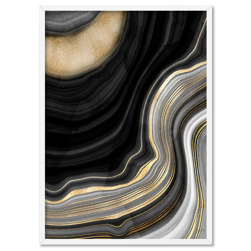 Agate Slice Luxury III - Art Print, Stretched Canvas, or Framed Canvas Wall Art